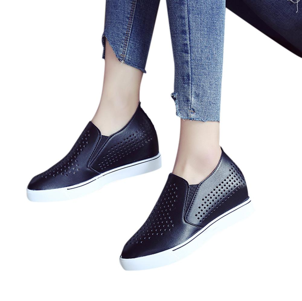 0cf8c2f648a1 Designer Dress Shoes Summer High Heel Wedges Sandals Platform Leather  Hollow Out Wedges Thick Bottom Casual Heels Shoes Online From Bags88