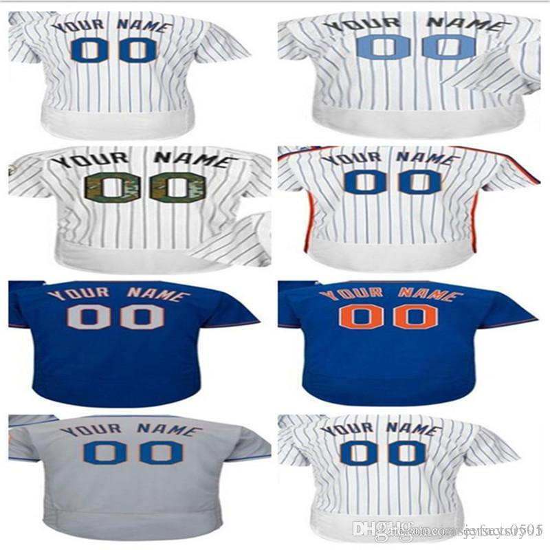 dbf64509f 2019 2018 Custom Men S Women Youth Majestic New York Mets Jersey Any Your  Name And Your Number Home Blue Grey White Kids Girls Baseball Jers From ...