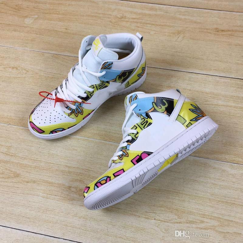 timeless design ac749 a2eb5 2018 NEW Arrive SB DUNK LOW HIGH PRM DLS Sun flower Sp QS DE LA SOUL 2 men  and womens casual shoes size eur36-44