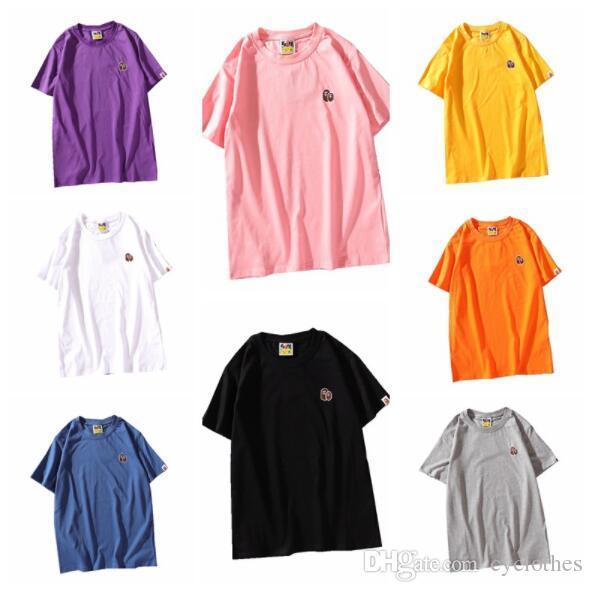 a692f0bec7 Compre 2019 Verano Nuevo Amante Bordado Multicolor De Dibujos Animados  Camisetas De Los Hombres Ocasionales De Cuello Redondo Manga Corta  Camisetas Envío ...