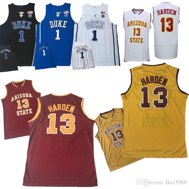 buy online 205ce a2c8a Die neuen NCAA College Basketball-Trikots von 2019 13 HARDEN-Trikots 1  DUKE-Trikots Sonderverkäufe Bequemer Stoff
