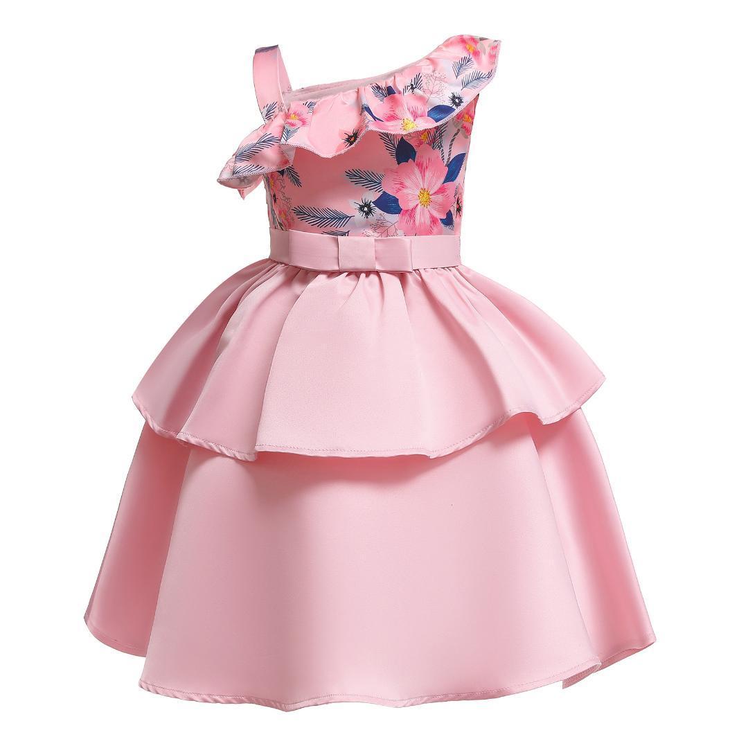 0b7857a893de4 Acheter Robes Princesse Tutu Bébé Pour Les Filles Formelle Fleur  D anniversaire Fête Robe De Fille Pour Les Filles De La Bal Vêtements De  Fille De Bébé 2 4 ...