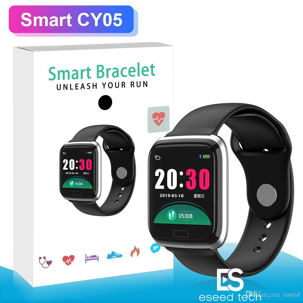 CY05 Smart Watch Bracelet 1.3 Inch Bluetooth Smartwatch Fashion Sports Waterproof Fitness Activity Tracker With Heart Rate Blood Pressure