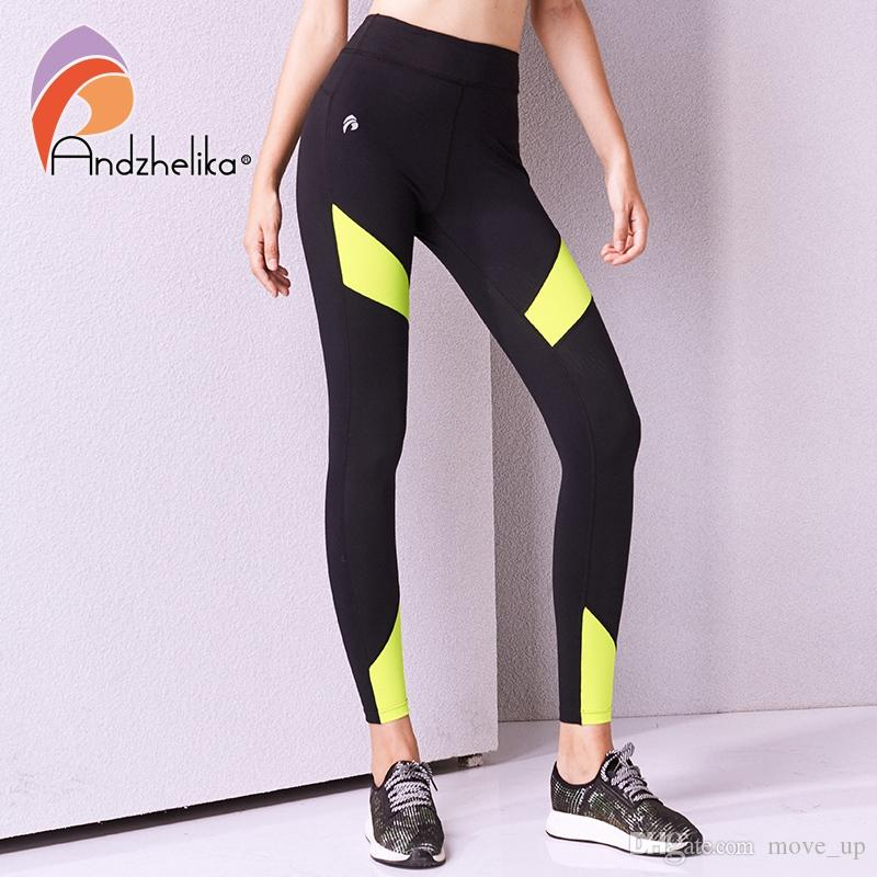 efda0f771 2019 Andzhelika 2018 Women Yoga Compression Pants Running Pants Breathable  Leggings Elastic Tights Yoga Workout Jogging  354738 From Move up