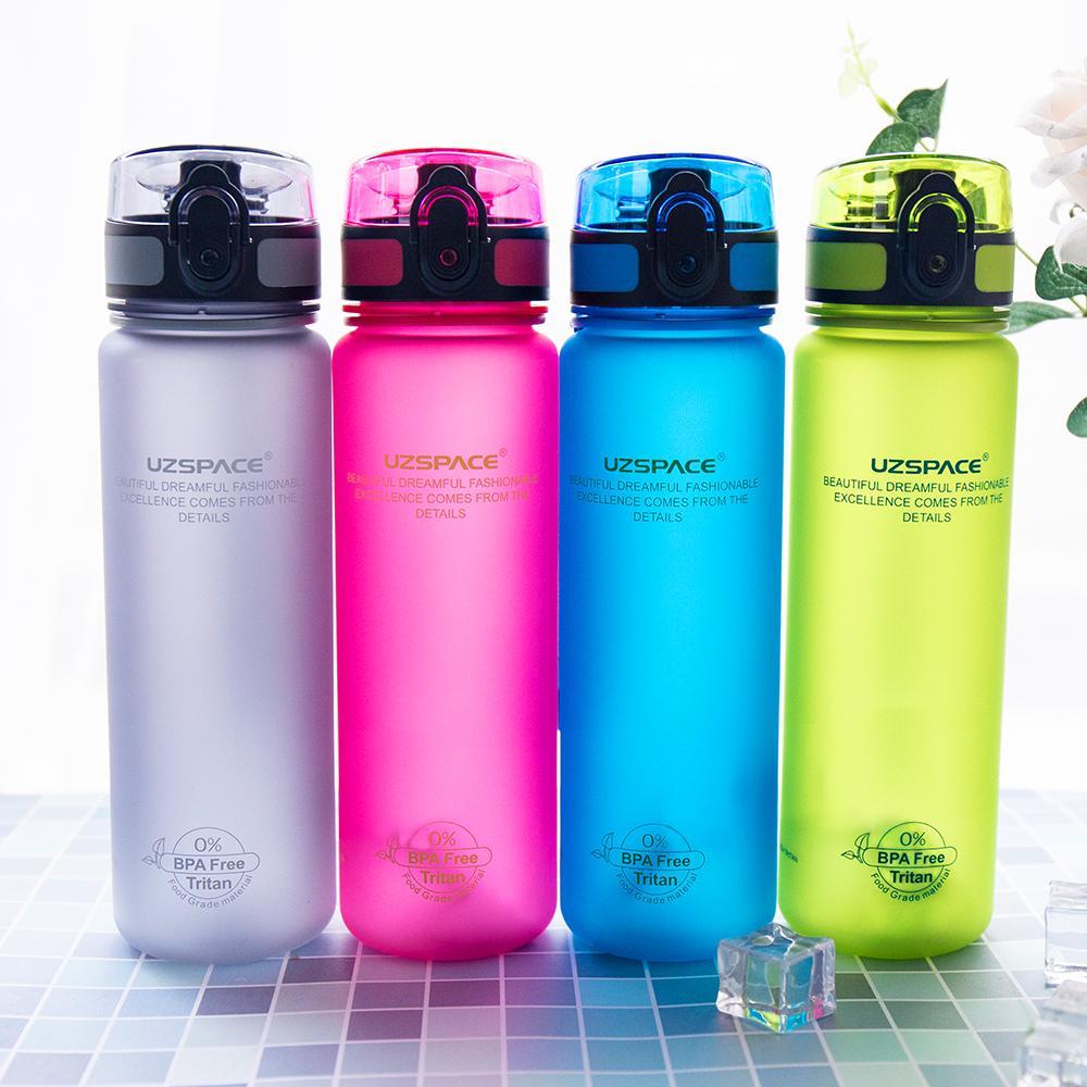 Uzspace 500ml BPA Free Plastic Bicycle Sports Water bottles Travel camping  Hiking Drinking shaker My Bottle Shaker Cup