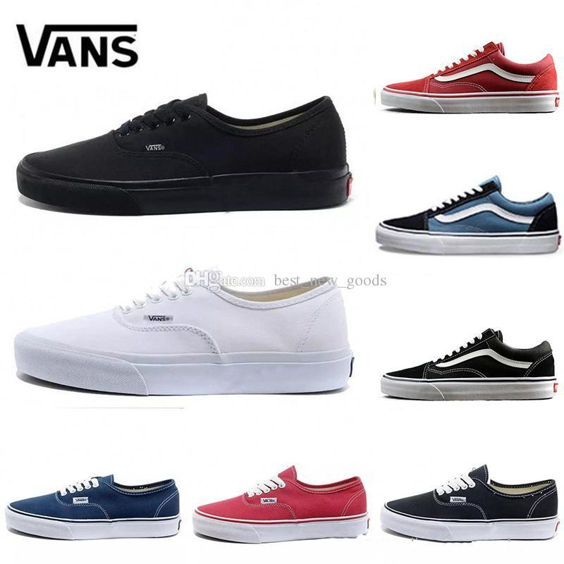 9e4b668677ad 2019 New Athentic Vans Classic Old Skool Canvas Mens Skateboard Designer  Sports Running Shoes For Men Sneakers Women Casual Trainers From  Best new goods