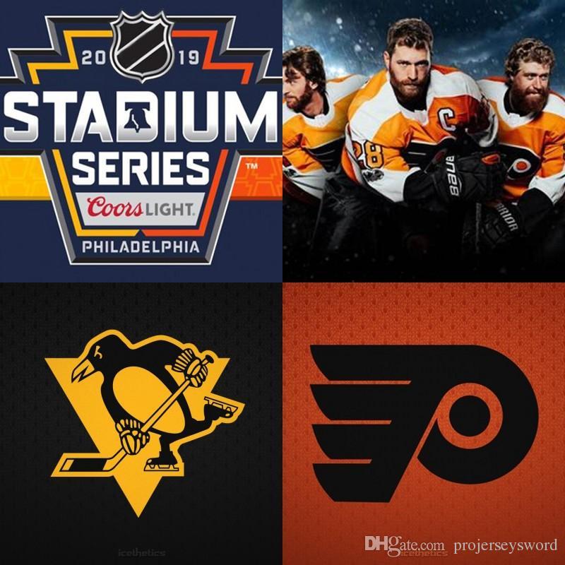 ... free shipping 2019 2019 stadium series jerseys philadelphia flyers  claude giroux wayne simmonds pittsburgh penguins sidney 13bbe39a0