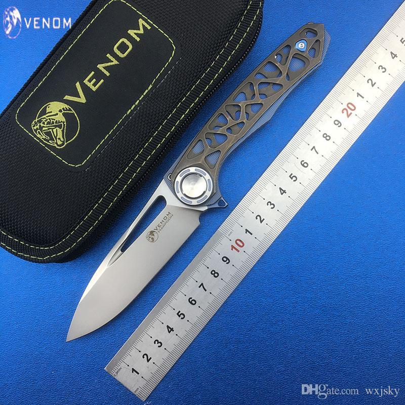 Compre VENOM HARPOON Nuevo Cuchillo Plegable M390 Hoja TC4