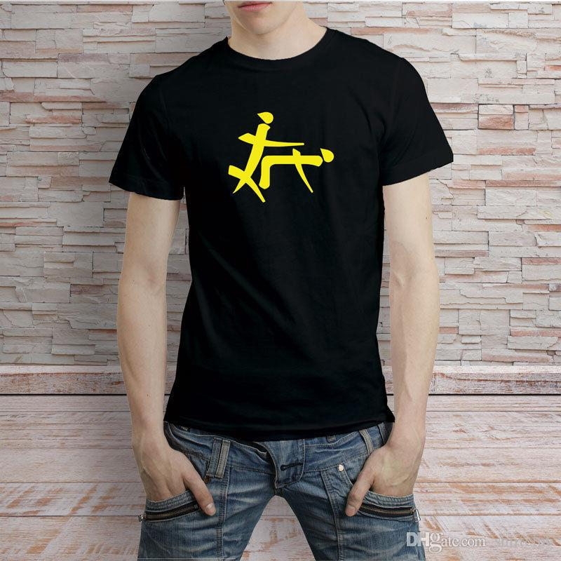 8b900f86eac72 Acheter Symbole Chinois Drôle Doggie Style Tshirt Tee Noir Et Blanc Tees  Shirt Hommes Garçon Geek Manches Courtes De Mode Personnalisé 3XL Couple  Camiseta ...