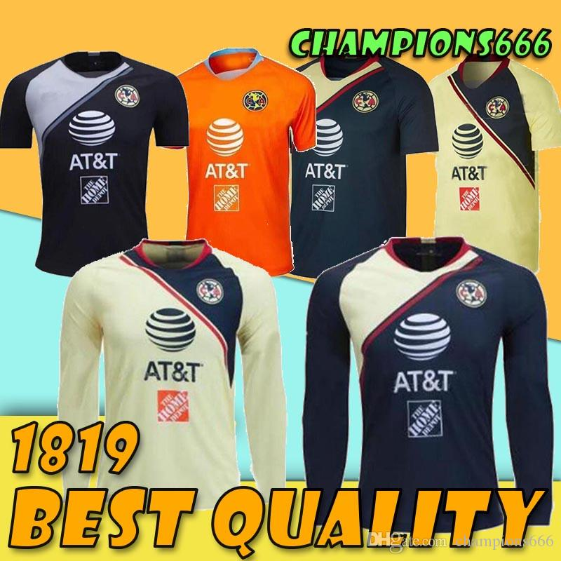 Camiseta De Fútbol De América Club LONG México 2018 2019 LIGA MX C.DOMINGUEZ  R.JIMENEZ R.SAMBUEZA P.AGUILAR Camiseta De Fútbol De Portero Por  Champions666 1605113834775