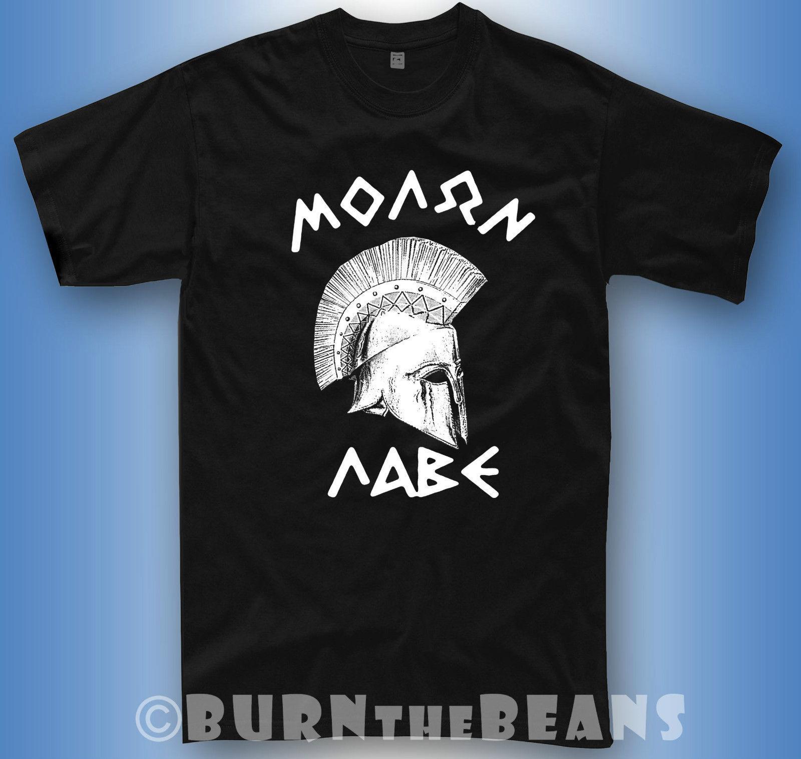 spartan t shirt  Spartans t-shirt Sparta Greece helmet gym 300 molon labe tshirt + long  sleeve summer Hot Sale New Tee Print Men T-Shirt Top Mens 2018 New