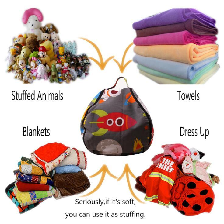 35 Styles Storage Stuffed Animal Storage Bean Bag Chair Kids Toy Storage Bag Cartoon Bean Bag Chair Mat Clothes Organizer CCA11009 15pcs