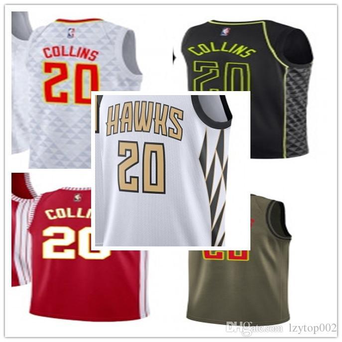 the latest 0f074 71af9 2019 custom Men/WOMEN/youth Atlanta Hawk jersey 20 John Collins basketball  jerseys free ship size s-xxl message name number