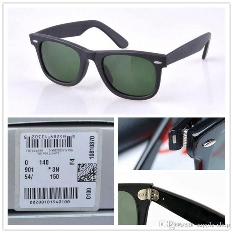 723d251bcb6 High Quality Plank Sunglasses Black Frame Green Lens Sunglasses Metal Hinge  Sunglasses Mens Womens Sun Glasses 2140 Wayfarers Sun Glasses Spitfire ...