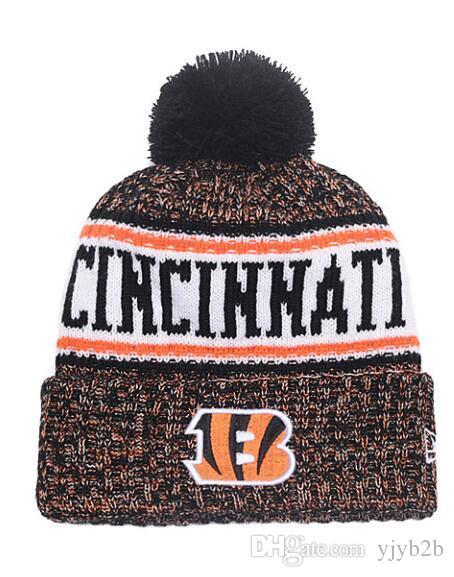 d2856bfe666 NEW Men s Cincinnati Knitted Beanie Wool Warm Baseball Striped ...