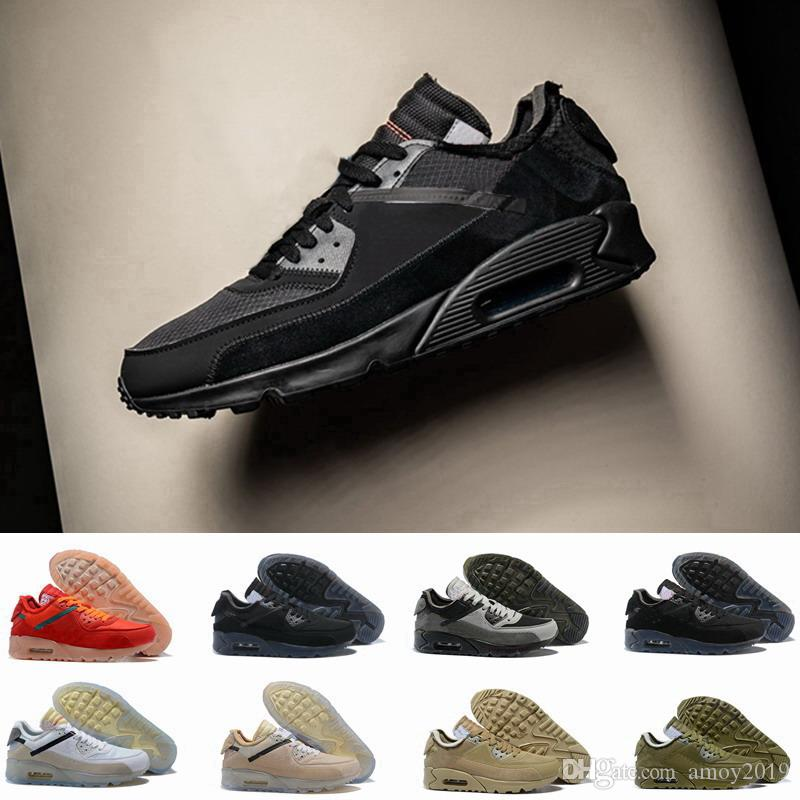 2019 Men 90 Running Shoes Virgil Designer World cup Triple White Black air  Red off Sneakers 90s Mens Trainers Sports Chaussures zapatos