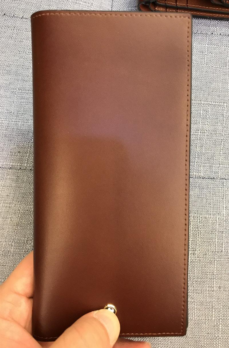 ffb4d5256317 Luxury Casual Wallets Fashion Genuine Leather Purses with Box Top Quality  Business MB Wallet Men Women Long Bifold Purse Unisex Wallets