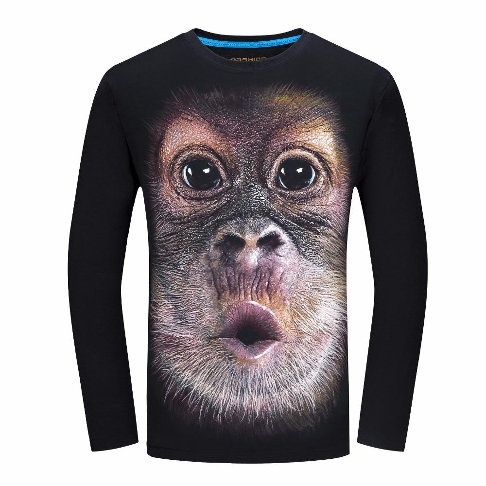59ced4806583 2019 Mens T Shirt 3d Printed Animal Monkey T Shirt Short Sleeve Funny  Design Casual Tops Tees Male Summer T Shirt S 5xl 10 T Shirt Awesome T  Shirts Online ...