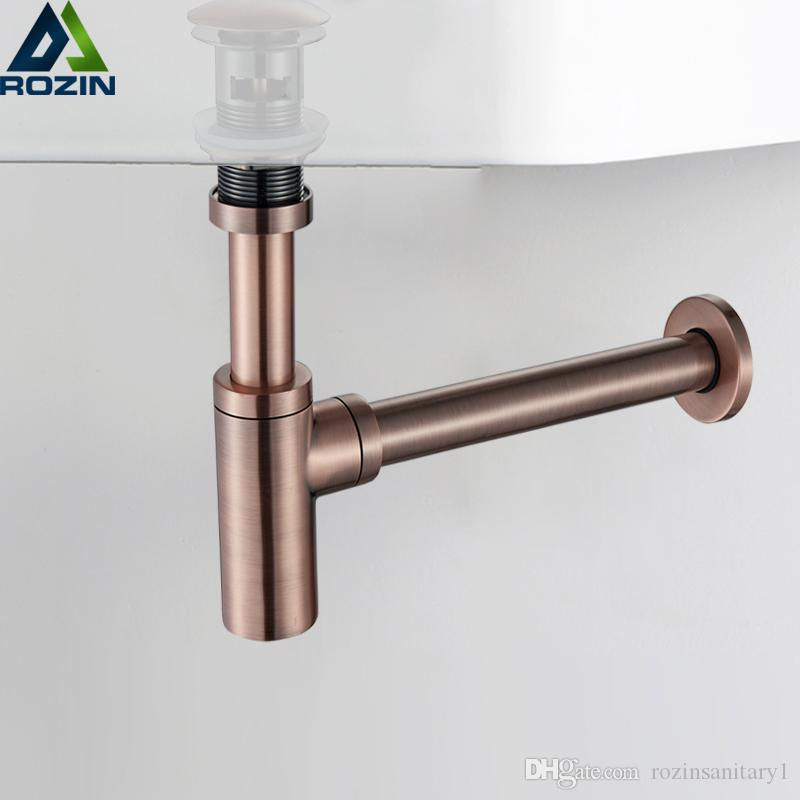 2019 atique bronze round siphon bottle trap black p trap bathroom rh dhgate com