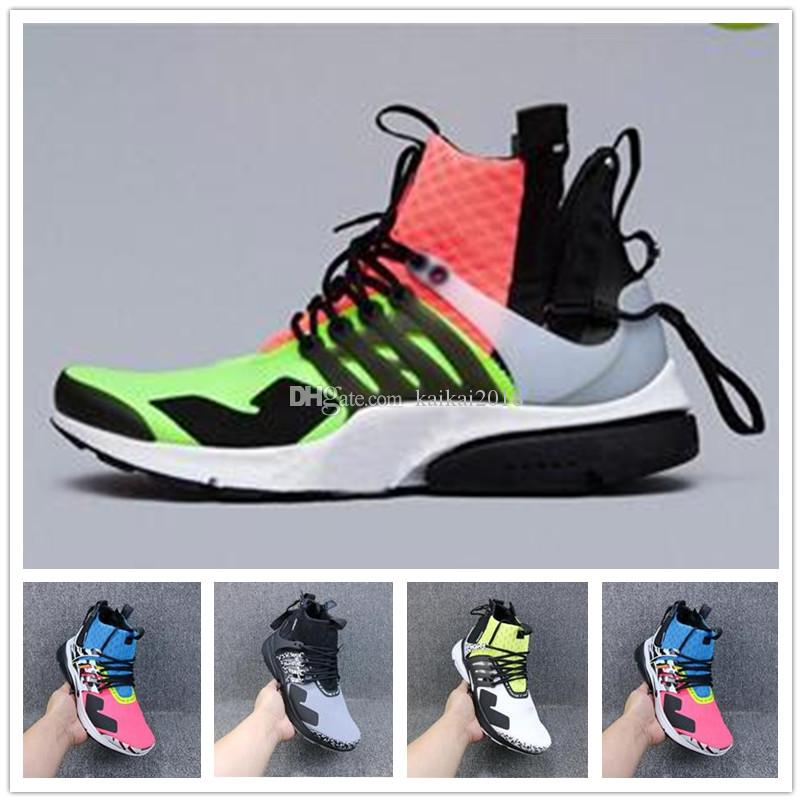 2018 Original Presto ultra AC BE TURE Chaussures De Course High air Designer Trainer 6 couleur Hommes Femmes Basketball Sport Baskets Chaussures taille