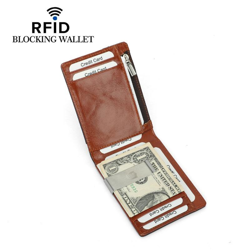 9996c10bb64e DKER RFID Blocking Bifold Slim Vintage Genuine Leather Thin Minimalist  Front Pocket Wallets Money Clip Wallet And Purse YP 212 Cheap Designer  Wallets ...