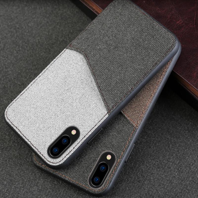 online store 16d3b 814db Canvas Phone Case For Vivo NEX X9 X9s X20 X21 Plus Case Soft TPU Edge Color  Stitching Card Slot Design Back Cover