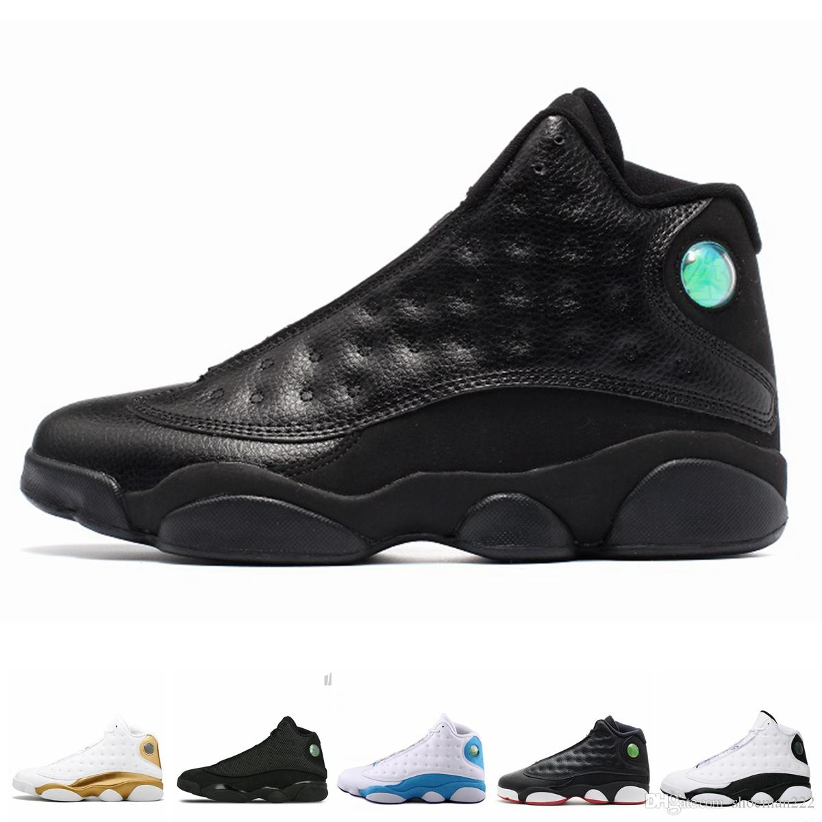 Nike Air jordan 13 13s men he got jogo sapatos designer black cat melo classe de 2003 gray toe crest baixo low chutney sports sneakers shoes
