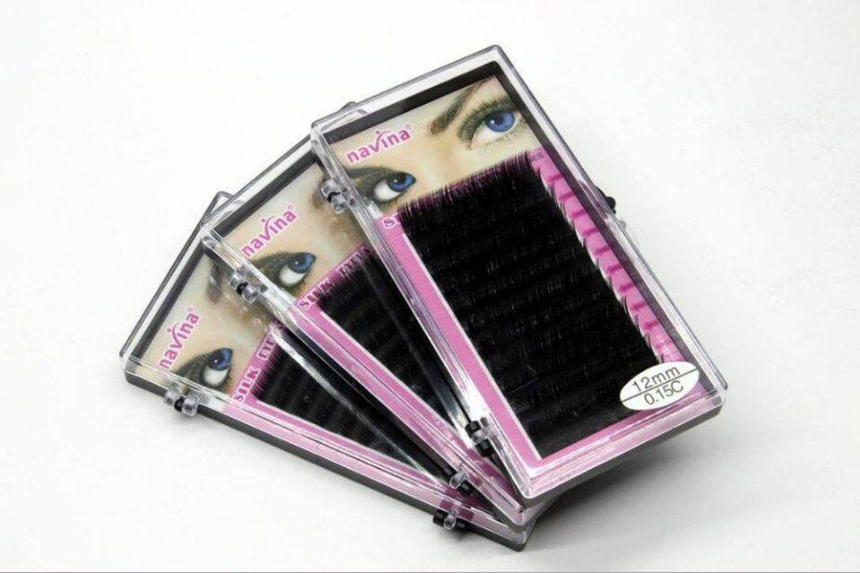 Sets/Lot Navina Make Up False Eyelashes Densely Planted In Rows Grafted Eyelashes Soft 3D Mink False Eyelashes