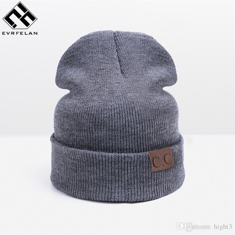 836fbcaf22d 2017 New Winter Hat For Women Fashion Warm Hats Men Skullies Beanies ...