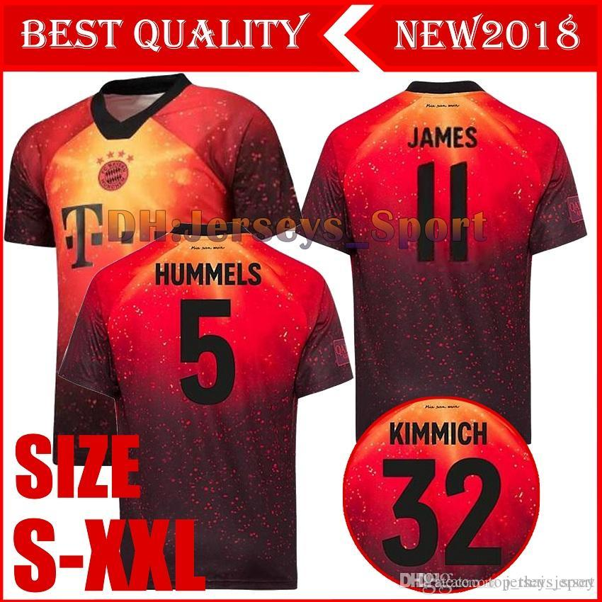 cheap for discount 29cd6 f185e TOP EA Sports Limited edition Bayern Munich JAMES RODRIGUEZ soccer jersey  18 19 LEWANDOWSKI MULLER KIMMICH jersey men Football kit shirt