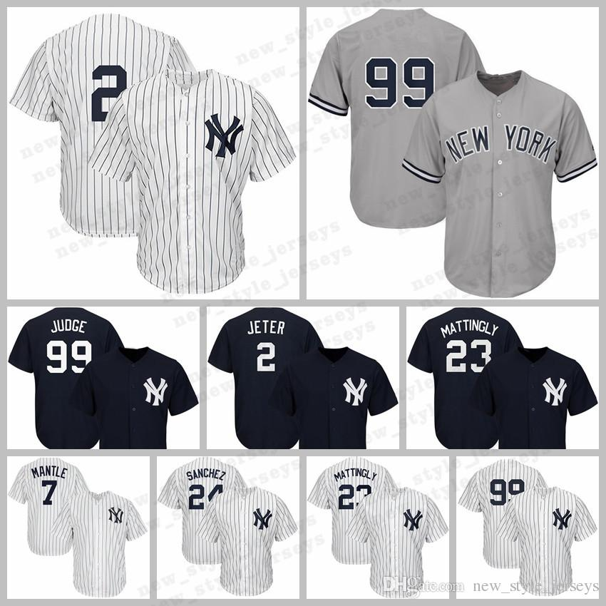 1d3d2e11b6b 2019 MEN 2 Derek Jeter New York 99 Aaron Judge Yankees Jersey 27 Giancarlo  Stanton Baseball Jerseys 7 Mickey Mantle 24 Gary Sanchez From  New_style_jerseys, ...