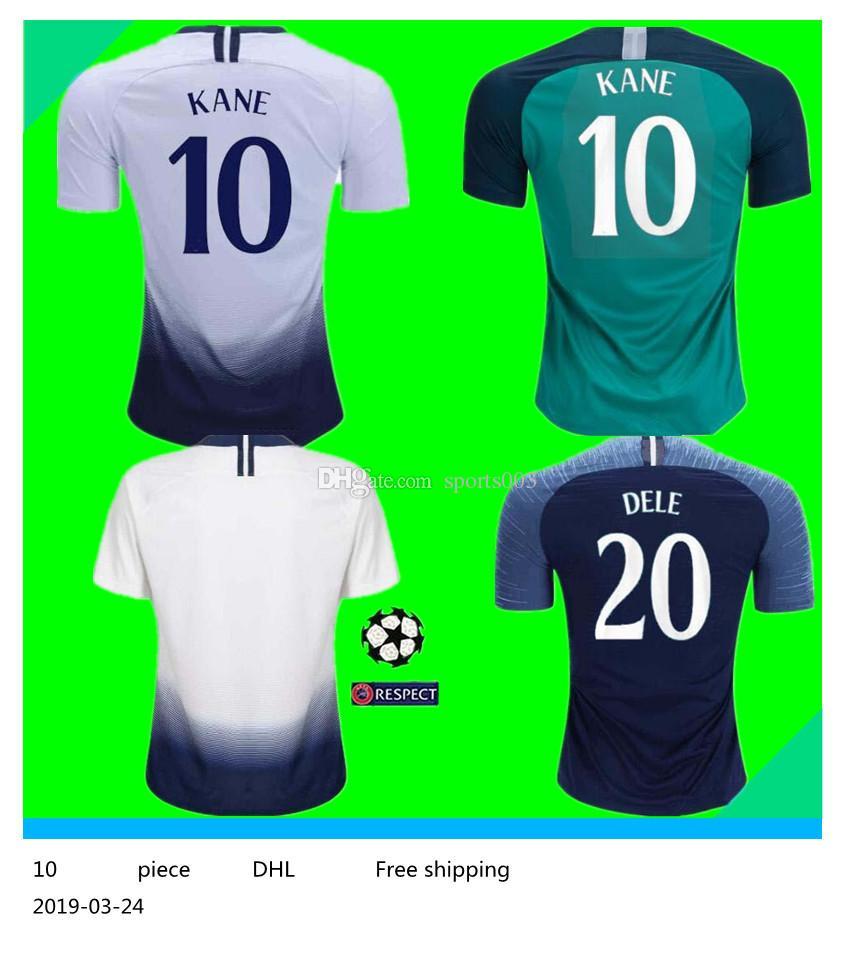 differently 0452d d9150 18 19 KANE spurs Soccer Jersey Home away third Champions League 2019 LAMELA  ERIKSEN DELE SON Football shirt Adults uniform