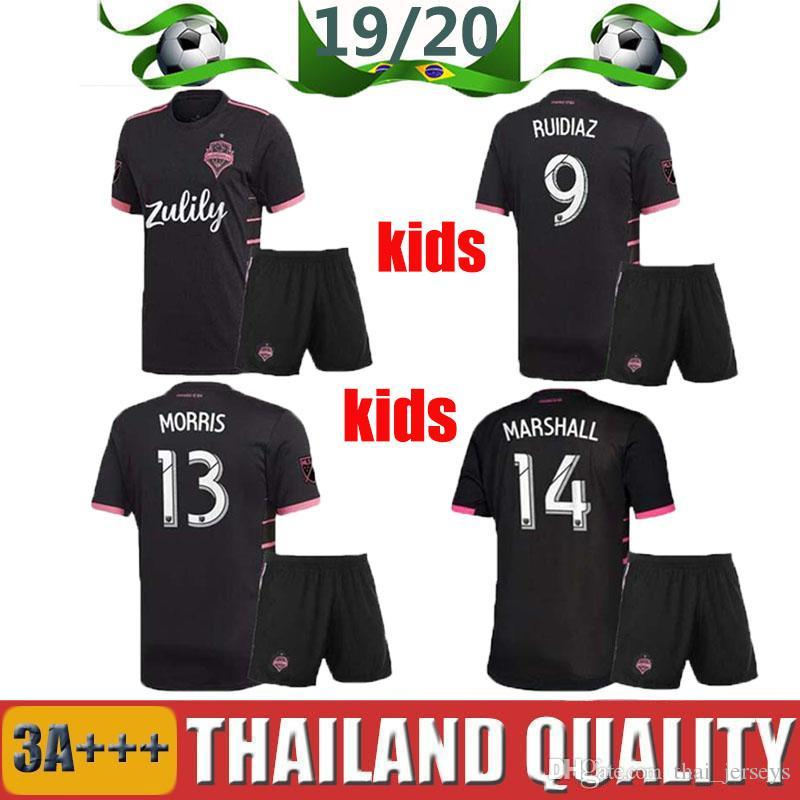 Seattle LODEIRO 2019 2020 Kit pour enfants Seattle Sounders FC Maillot de foot 19 19 MLS RUIDIAZ MORRIS LODEIRO MARSHALL Maillot de football