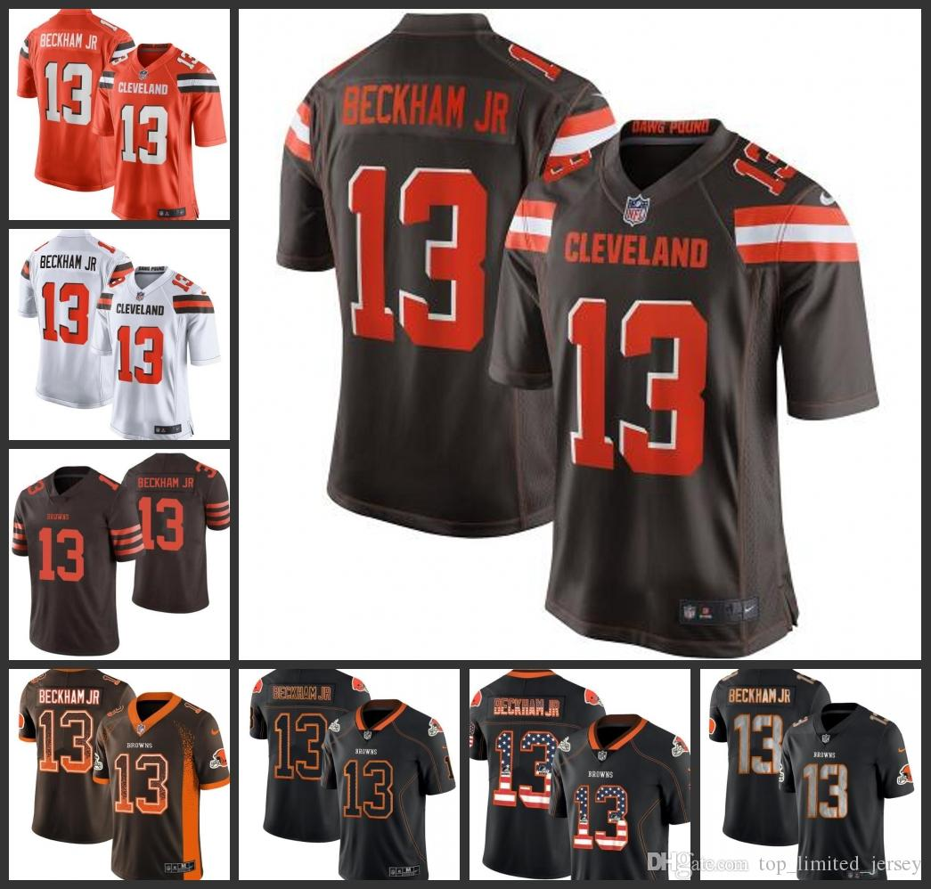 new product a4148 ab9a2 2019 New Cleveland Men's Browns Jersey #13 Odell Beckham Jr Game Women  Youth Limited Jerseys