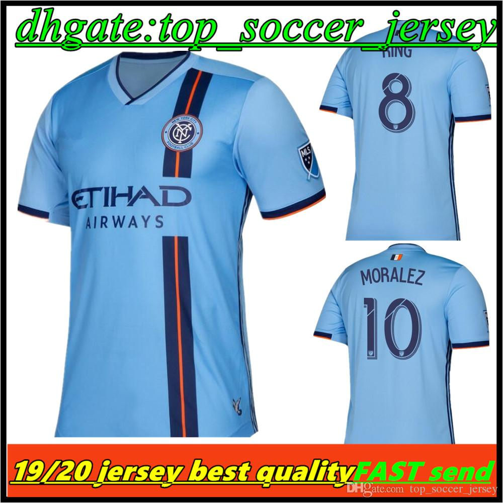 bd887e40cbbc 2019 MLS 19 20 NYCFC New York City FC Soccer Jerseys PIRLO MIX DAVID VILLA  LAMPARD Away Blue Maillot De Foot 2019 2020 Football Shirts From ...