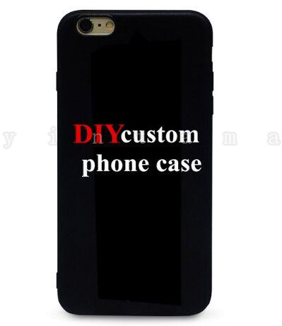 Custom Design DIY Logo/Photo Hard Phone Case For 5 5S SE 6 6S 7 Plus Customized Printed Back Cover