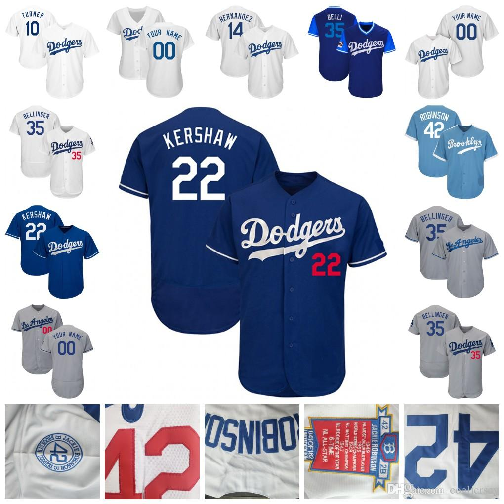 100% authentic 0ca75 75bc9 Los Angeles Clayton Kershaw Jersey Dodgers Cody Bellinger Hernandez Justin  Turner Corey Seager Koufax Urias Robinson Hill Men Women Youth