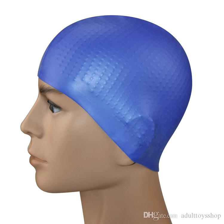 New adult silicone swimming caps solid color particles anti-skid unisex waterproof swimming cap manufacturers wholesale Swimming Caps