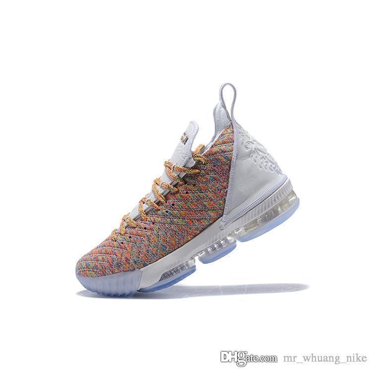 0f82175d95c 2019 Cheap Mens Lebron 16 Basketball Shoes For Sale Fruity Pebbles Boys  Girls Youth Kids Sneakers Tennis With Box From Mr whuang nike