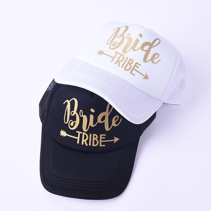 1e82ab0a7e617 Team Bride Party Cap Bachelorette Bride Tribe Fashion Baseball Hat Gold  Letters Black White Women Wedding Trucker Caps Army Hats Custom Caps From  Melontwo