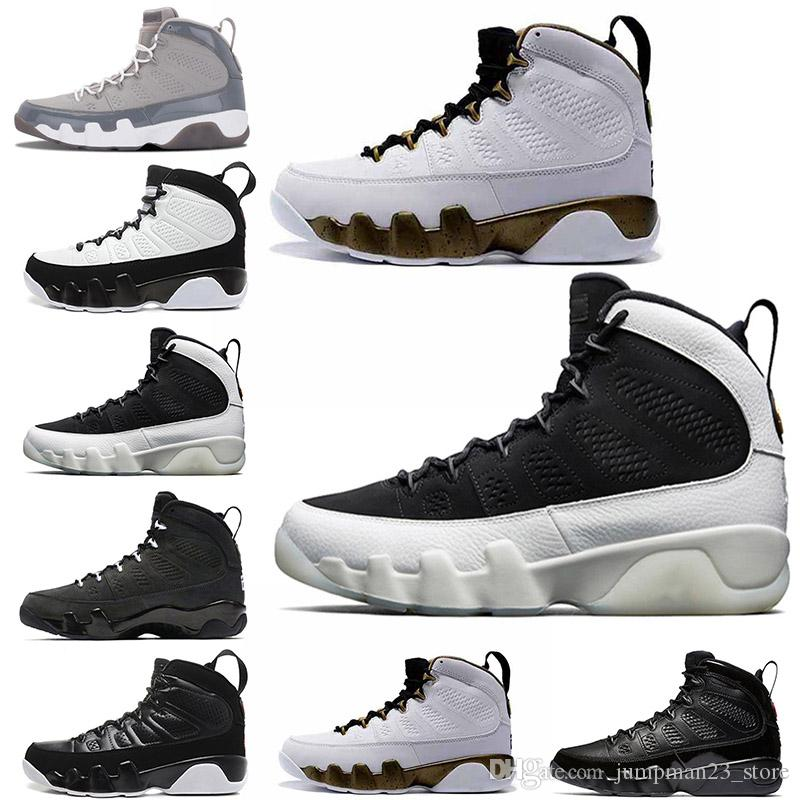 123f9cafa36 Mens 9 9s Basketball Shoes Statue City of Flight Oreo 2010 Release  Countdown Pack 18s Toro OG ASG Sports Brand Sneakers 8-13 9s 18s Sneakers  Online with ...
