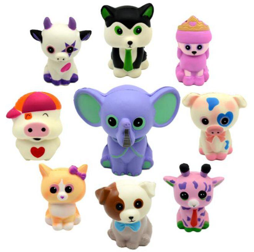 Squishy PU Ty Beanie Boos Unicorn toys squishy Slow squishy Simulation  Funny Gadget Vent Big Eyes Animals Squeeze Toy KKA6439
