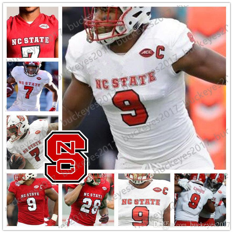 more photos 9a47f e852f 2019 NC State Wolfpack White Red Retro Football Jersey #9 Bradley Chubb  Mario Williams 17 Philip Rivers 16 Russell Wilson 12 Jacoby Brissett