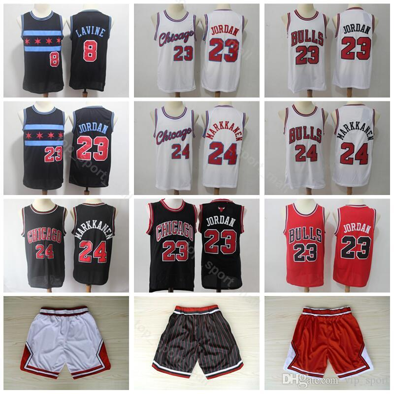 Men Bulls Jerseys Chicago Basketball 8 Zach LaVine Space Jam 23 Michael 24  Lauri Markkanen Jersey Short City Edition Red White Black Canada 2019 From  ... 607a7bb86