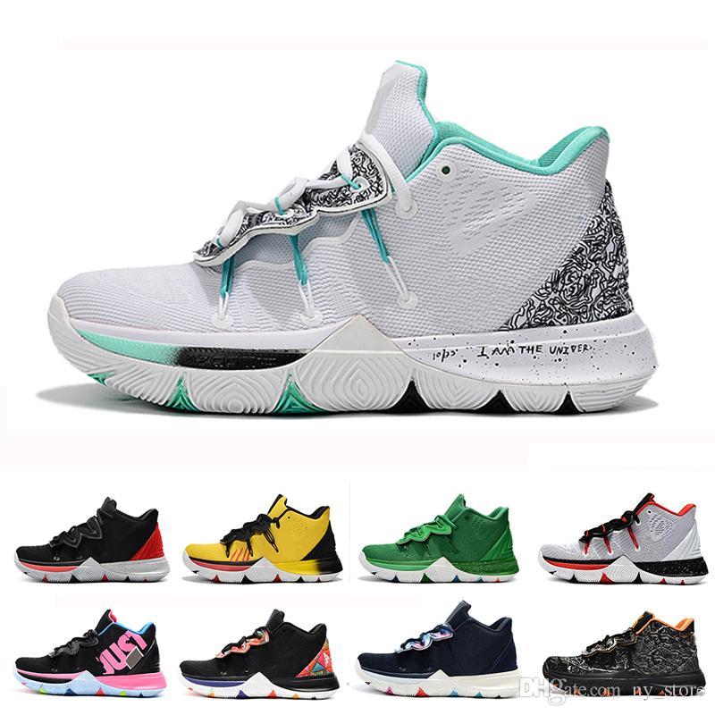 la meilleure attitude 6363a a6620 2019 Kyrie Hommes 5 Chaussures de basket-ball pour Vente Pas Cher Irving 5s  Sneakers Sports Hommes Chaussure Wolf Gris Team Rouge En Plein Air Baskets  ...
