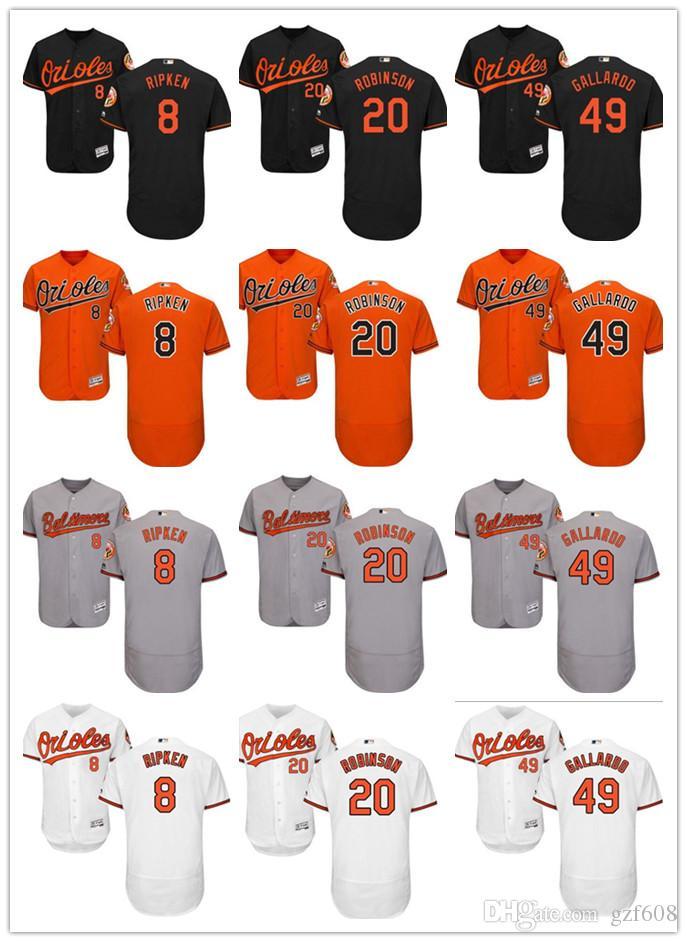 71d6679992e 2019 Custom Men'S Women Youth Baltimore Orioles Jersey #8 Cal Ripken 20  Frank Robinson 49 Yovani Gallardo Orange Grey White Baseball Jerseys From  Gzf608, ...