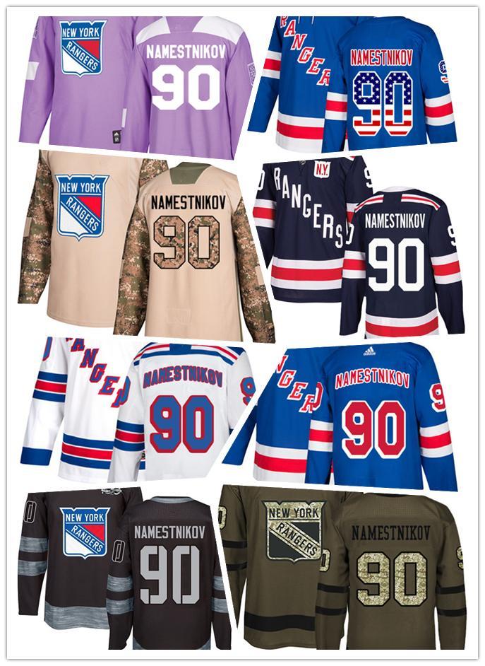 info for 23822 34eac New York Ranger jerseys #90 Vladislav Namestnikov Jersey hockey men women  youth white blue home away Stiched Fanatics Winter Classic Jerseys