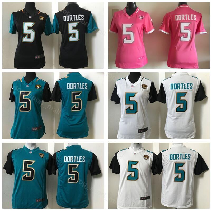 size 40 0cba8 73da3 Football Jacksonville 5 Youth Blake Bortles Jersey Women Jaguars Black  Green Pink Woman Lady Kids Children Sport Top Quality On Sale