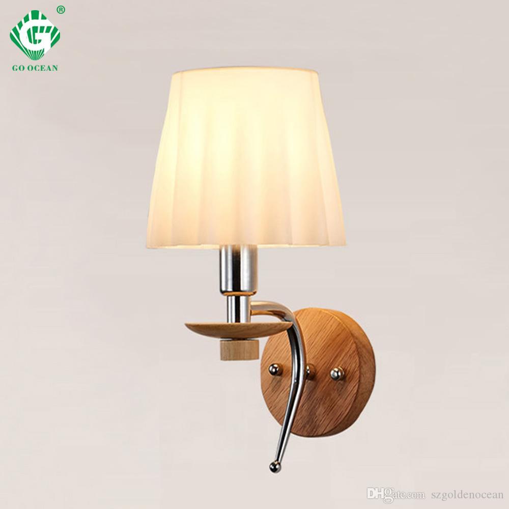 E14 Lámpara de pared Aluminio De madera Cuarto de baño Sala de estar  Iluminación interior Moderna lámpara de pared Lámparas LED de noche Montado  ...