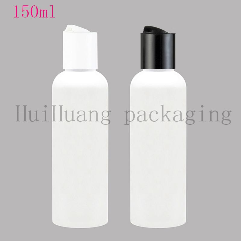 50pcs 150ml Disc Screw Cap Cosmetics Bottle, Plastic Container,white Empty Liquid Soap Shampoo Bottles 150cc white Bottle